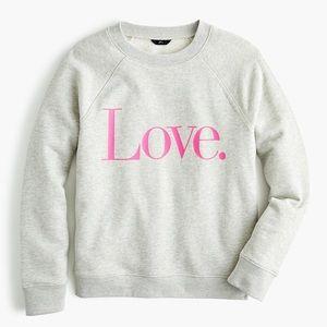 J.Crew Love Pullover Sweatshirt